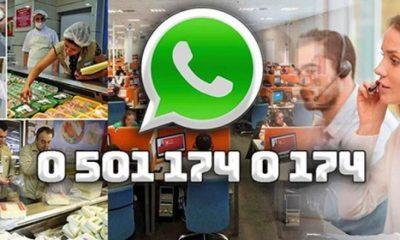 Whatsapp gıda ihbar hattı hizmette