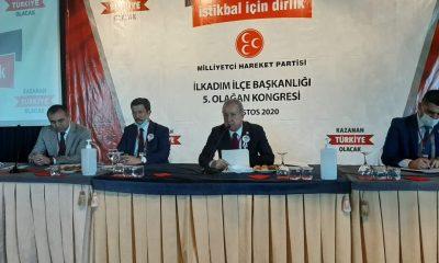 Özcan KINALI MHP İlkadım İlçe Başkanı Seçildi