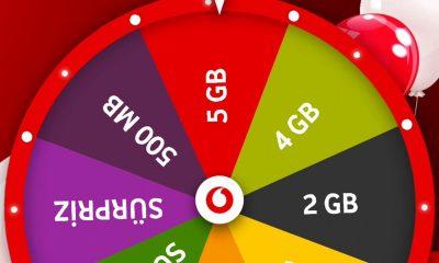 Vodafone Çark ile Bedava SMS, İnternet ve Dakika Paketleri