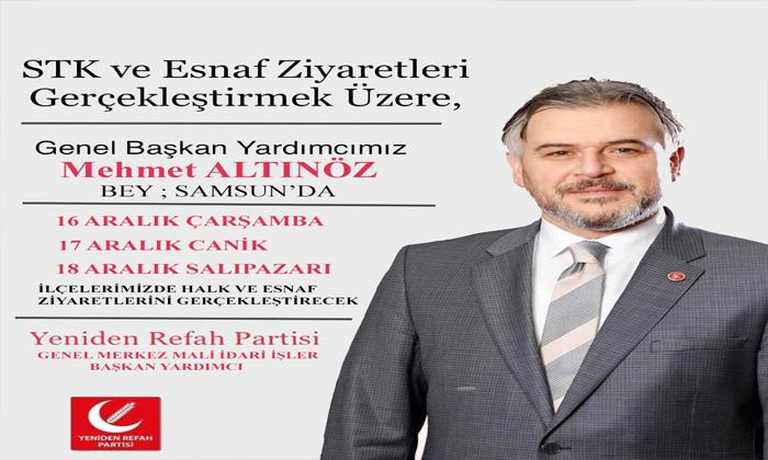 Mehmet ALTINÖZ Samsun'a Geliyor
